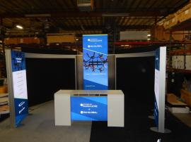 RENTAL:  RE-9096 Island Exhibit with Double-sided Lightboxes and ECO-42C Backlit Counter