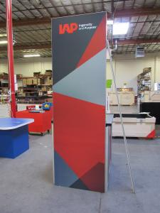 Custom Monitor/Kiosk Tower with Tension Fabric and Direct Print Graphics -- Back View