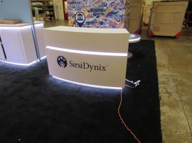 Custom Curved Reception Counter with LED Accent Lights