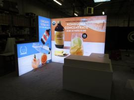 Custom Inline LED Lightbox with Tension Fabric Graphics and Custom Reception Counter