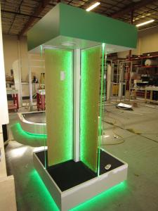 Custom Kiosk and Riser with Programmable RGB and LED Lights