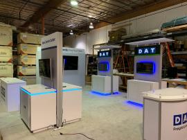 "RENTAL: Components Added to Existing Properties Include Gravitee System Storage Closet with Locking Door, RE-1207 Large Rectangular Counter, RE-1250 Reception Counter, (2) RE-1576 Kiosk Counters, 48"" Wide x 96"" High Double-Sided Lightbox Kiosk, (3) Large"