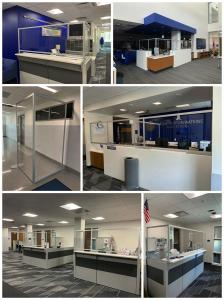Personal Protection Safety Dividers for Offices in a High School