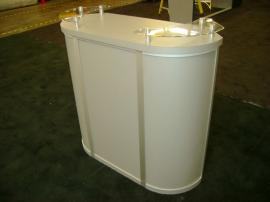 MOD-1139 Trade Show Pedestal with Storage and Shelf -- Image 1