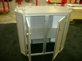 MOD-1139 Trade Show Pedestal with Storage and Shelf -- Image 2