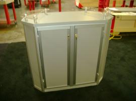 MOD-1139 Trade Show Pedestal with Storage and Shelf -- Image 3