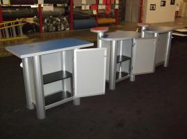 (2) MOD-1184 Modular Pedestals and (1) Modified MOD-1184 Modular Pedestal with Locking Storage -- Image 2