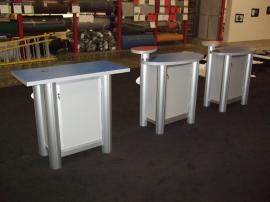 (2) MOD-1184 Modular Pedestals and (1) Modified MOD-1184 Modular Pedestal with Locking Storage -- Image 3