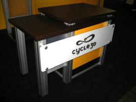MOD-1260 Modular Trade Show Counter with Locking Storage -- Image 1