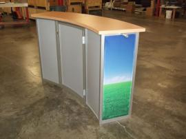 Custom Modular Counter with Tension Fabric Graphics