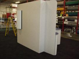 Euro LT Custom Modular Display with Peninsula Counter and Round Pedestal -- Image 2