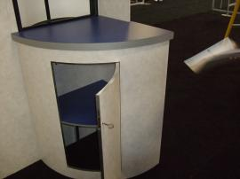 Euro LT Custom Modular Display with Peninsula Counter and Round Pedestal -- Image 3