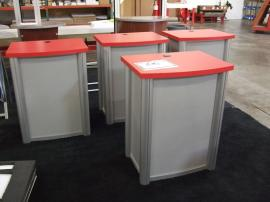 Visionary Designs Counter/Pedestals with Locking Door, Shelf, and Grommet -- Image 1