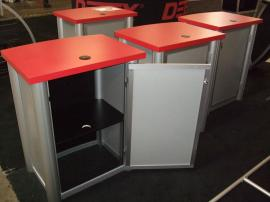 Visionary Designs Counter/Pedestals with Locking Door, Shelf, and Grommet -- Image 2