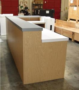 Large Custom Counter with Open Shelves