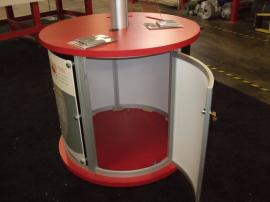 Modified MOD-1209 Kiosk with Base, Casters, and Locking Storage -- Image 3