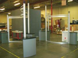 20' x 20' Visionary Designs Display with Custom Attached Pedestals