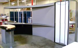 10' x 20' Custom Visionary Designs Display with Custom Curves and Backlit Graphic