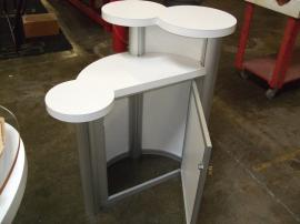 Custom Counter with Tiered Counter Tops and Locking Storage -- Image 2