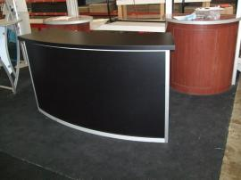 Large Trade Show Counter with Locking Storage -- Image 1