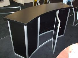 Large Trade Show Counter with Locking Storage -- Image 2