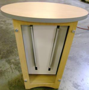 Custom LTK-1001 Oval Pedestal with Lightbox Front