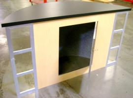 Counter has Door for Internal Storage (An Internal Shelf could be added as well)