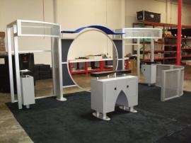 10' x 20' Visionary Designs Hybrid Exhibit. Modified DM-0318 with LTK-1148 and LTK-1143 Counters and Workstations -- Image 1