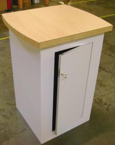 Euro LT Square Pedestal with Locking Storage