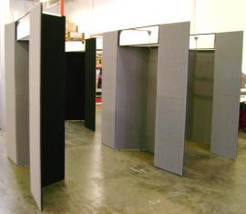 (4) 10' x 10' Intro Backwall Units with Backlit Headers