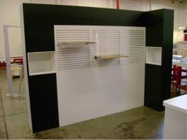 10' x 10' Euro LT with Slatwall and Inset Shelves