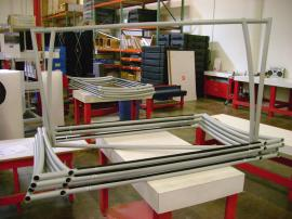 Multiple Aero Freestanding Table Tops -- TF-401 with Custom Powder Coating Color