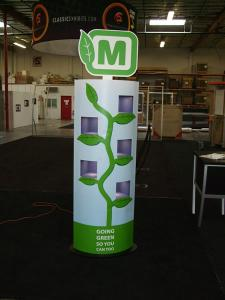 Custom Kiosk Tower with Video Monitors and Backlighting -- Image 1