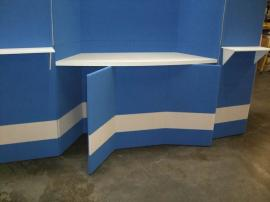 Intro Folding Fabric Panel Display with Alcove Counter and Backlit Header -- Image 2