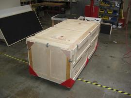 Large Custom Wood Crate with Top and Side Openings -- Image 1