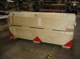 Large Custom Wood Crate with Top and Side Openings -- Image 2