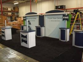 Visionary Designs 10' x 20' Hybrid Exhibit with (2) Custom Workstations -- Image 1