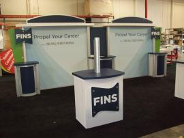 Visionary Designs 10' x 20' Hybrid Exhibit with (2) Custom Workstations -- Image 2