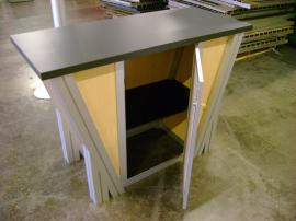 MOD-1140 Counter with Locking Door and Shelf