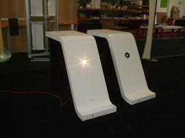 Two Custom Modular Pedestals with Puck Lights -- Image 1