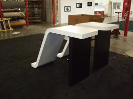 Two Custom Modular Pedestals with Puck Lights -- Image 2