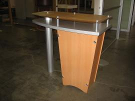 Custom Tapered Pedestal with Raised Plex Countertop (LTK-1001 base)