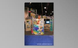 RENTAL Exhibit:  20' x 30' Rental Exhibit with Aluminum Extrusion, Slatwall, and Large Format Graphics -- Image 1