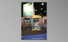 RENTAL Exhibit:  20' x 30' Rental Exhibit with Aluminum Extrusion, Slatwall, and Large Format Graphics -- Image 3