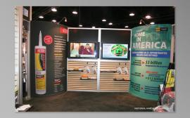 RENTAL Exhibit:  20' x 30' Rental Exhibit with Aluminum Extrusion, Slatwall, and Large Format Graphics -- Image 4