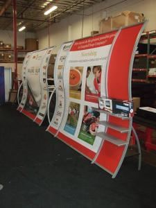 Custom Perfect 10 Portable Hybrid Displays with Tension Fabric Graphics -- Image 1