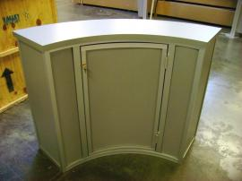 Visionary Designs Curve Reception Counter with Locking Door and Shelf