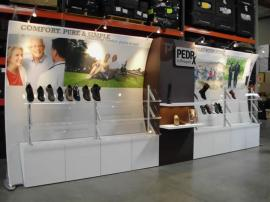 Custom Modular Display with Tension Fabric Backwall and Custom Cabinets and Accessories -- Image 1