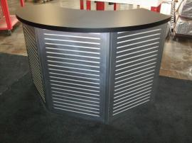 Custom Modular Slatwall Counter with Locking Storage -- Image 1