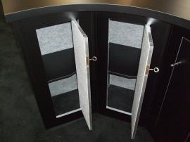 Custom Modular Slatwall Counter with Locking Storage -- Image 2